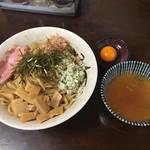 お浦 - 油そば(スープ付)+卵黄
