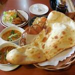 ハビビ ハラル レストラン - ...「Habibi Special Set(1100円)」、日によってナンの形状が異なる?!?!