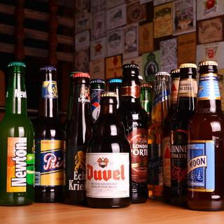 世界のビールが全14種と豊富