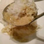 バンコクキッチン - [料理] カーオ スワイ (タイ 香り米) グリーンカレーと合わせたひと口分 アップ♪w