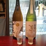 立寄処 桜子 - 呑み比べ 「美丈夫」純米吟醸 純麗たまラベルと純米大吟醸 夢許