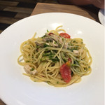 ピッツァ サルバトーレ クオモ - メカジキと青海苔のペペロンチーノ ¥1,500
