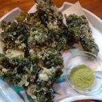 うまか味 薩摩 - ココのあおさの天ぷら美味しい♪580円