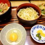 めんぼう壱久 - 牛丼セット