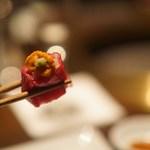 59664115 - 雲丹と特選赤身肉のロール寿司