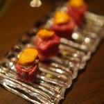 59664125 - 雲丹と特選赤身肉のロール寿司
