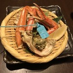 旨い魚と野菜の金澤じわもん料理 波の花 - ゆでずわい蟹( 半身 )
