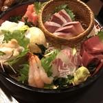 旨い魚と野菜の金澤じわもん料理 波の花 - お刺身