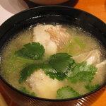 魚竹 - アラの味噌汁