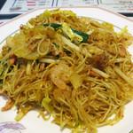 香港 贊記茶餐廳 - 星州炒米(シンガポール風焼ビーフン) 定価700円