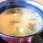 月島鉄板もんじゃもん - お味噌汁 豆腐・揚げ・ワカメ・葱