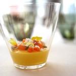 エスキス - カボチャのブランマンジェ、アンチョビ、胡桃、オレンジ