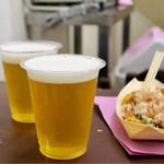 たこ焼道楽 わなか - 生ビールセット+生ビール小