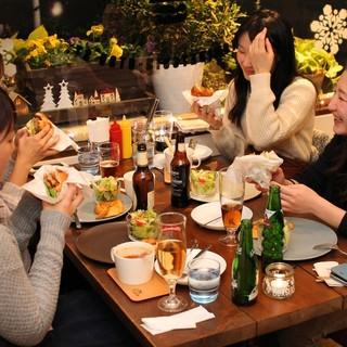 ◆デートや女子会にお勧め♪お洒落空間で楽しむ絶品ハンバーガー
