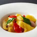 54.白身魚とレモンソース炒め