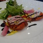 花の宴 - スモークローストポークのサラダバルサコミコソース