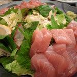 銀塩 - 刺身&サラダ