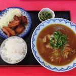 スタミナラーメン - 料理写真:唐揚げ定食  カレーラーメン+¥150