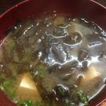 石亭 - おばあちゃんの味噌汁、、79歳、、