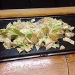 石亭 - 野菜がどーん、ザル1杯分の野菜、、