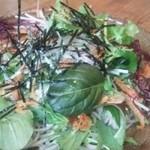 蕎麦と雑穀料理 杜々 - 桜えびのちらしぶっかけそば