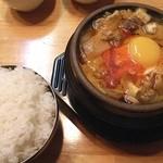 韓国料理 青唐辛子 - 豆腐チゲ