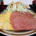 南乃畑 - ポーク玉子定食 550円。