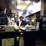 こま - 厨房を望む。