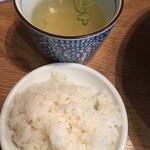 魚がしそば - おっかけの鯛めしとスープ