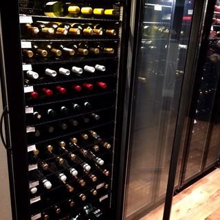 豊富なワインセレクション