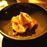 千翠 - 料理写真:無花果と柿の胡麻和え