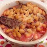 テリーヌ食堂 - 佐賀産大豆とズッキーニ ラム肉の煮込み ビーツソース