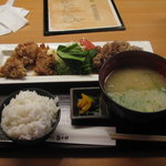 5972364 - 黒豚生姜焼き&唐揚定食