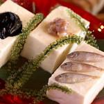 島豆腐の珍味三種盛