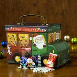 ロンシャン洋菓子店 - 可愛いサンタさんとトナカイさんのバス型トランクです。クリスマスプレゼントにぜひどうぞ