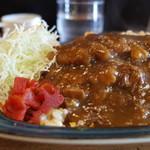 キッチン・ゴン - 定番ピネライス チャーハン+カツカレー(豚)880円(16'12)