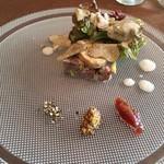 ラ マティエール エフ - 北海道鹿肉のパテ フォアグラ オータムトリュフ いちじくのジャム