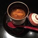 御料理 堀川 - 凌ぎ:牡蠣と湯葉・雲丹のせ月光餡