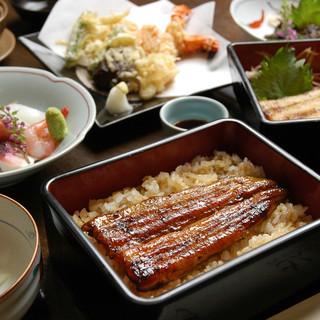 白焼き・柳川鍋・うな重が楽しめる宴会コース(7品)4000円