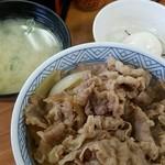 丼太郎 - 牛丼、温泉玉子 2016.12