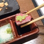 Katougyuunikutenshibutsuu - わさび醤油最高です!