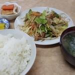 源八 - 料理写真:野菜炒め定食