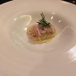 リストランテ 薫 - 礼文島一本釣りした鱈の白子 59度 白だしに浸けて