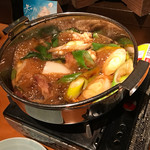 さなみ - 地鶏と白仁田ねぎのすき焼き1,000円(税別) ※どんどん煮てます