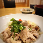 豆仙坊 喜楽 - メインは豚塩おろしネギ