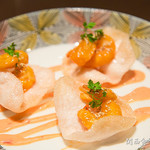 カジュアルレストランGoji-Goji - えびせんに乗ったエビマヨ
