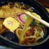 ごまそば鶴㐂 - 料理写真:鍋焼きうどん961円税込+ライス