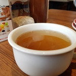 ジョリーパスタ - この日のスープはオニオンベーコン☆彡