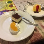 チロル - セットのデザートとシャーベット