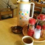 きし美 - 卓上調味料とイマドキ見かけない給茶ポット